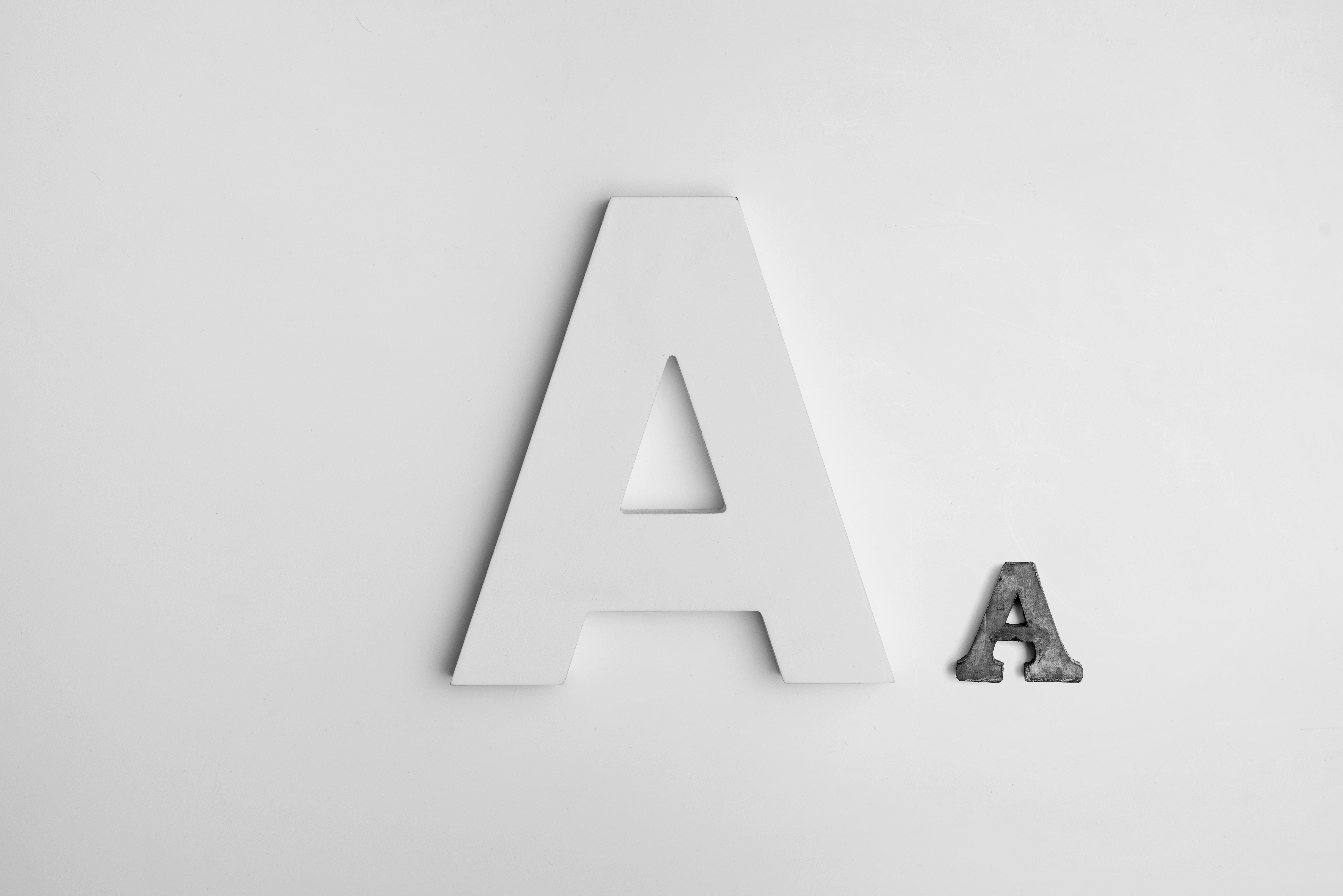 cut letter A's